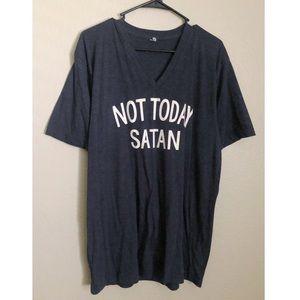 Tops - Funny Not Today Satan V Neck Tee